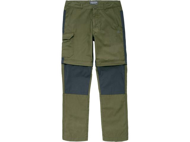 Craghoppers Kiwi Convertible Pantalon Enfant, dark moss
